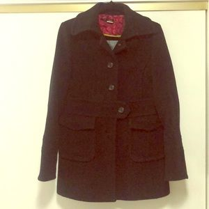 J.Crew heavy wool stadium cloth coat black